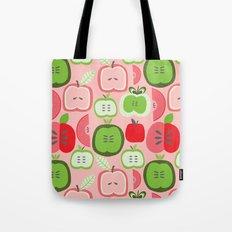 Retro Apples Tote Bag