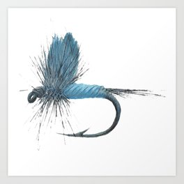 Blue Dun Dry Fly Art Print