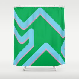 The form Shower Curtain