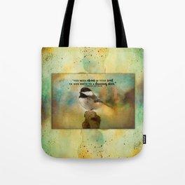 Chickadee Chaos Tote Bag