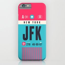 Baggage Tag A - JFK New York John F. Kennedy USA iPhone Case