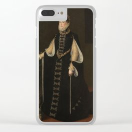 ANGUISSOLA, SOFONISBA (ATTRIBUTED TO) Elisabeth of Valois holding a portrait of Philip II 1561 - 156 Clear iPhone Case