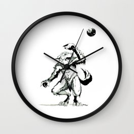 Full Moon Fear Wall Clock