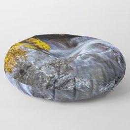 Merced River Fall Color 10-20-19 Floor Pillow