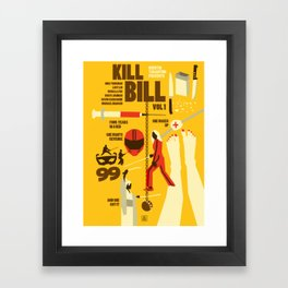 Quentin Tarantino - Kill Bill 1 Framed Art Print