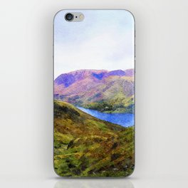 View Down to Buttermere, Lake District, UK Watercolour Painting iPhone Skin