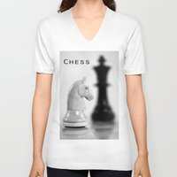 chess V-neck T-shirts featuring Chess by Falko Follert Art-FF77