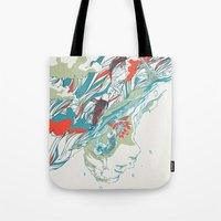 huebucket Tote Bags featuring Colours In The Sky by Huebucket