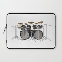 Black Drum Kit Laptop Sleeve