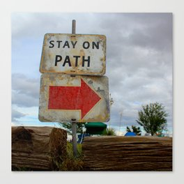 Stay On Path Canvas Print