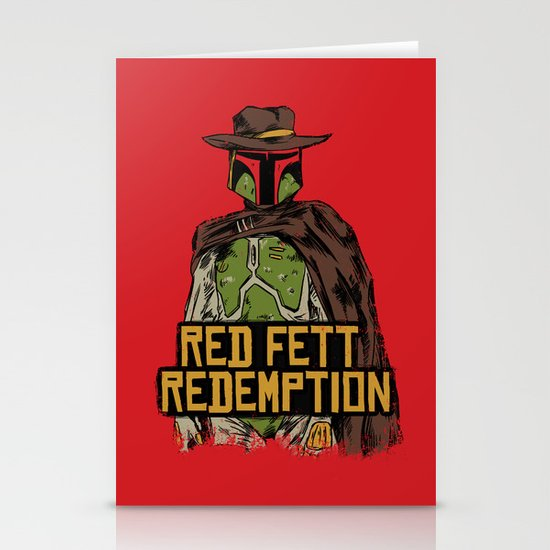Red Fett Redemption Stationery Cards
