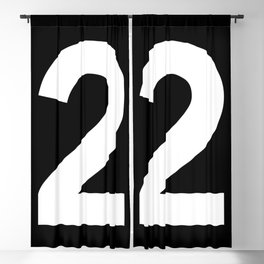 Number 2 (White & Black) Blackout Curtain