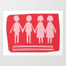Equality Love Art Print