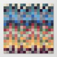 pixel Canvas Prints featuring Pixel by crrr