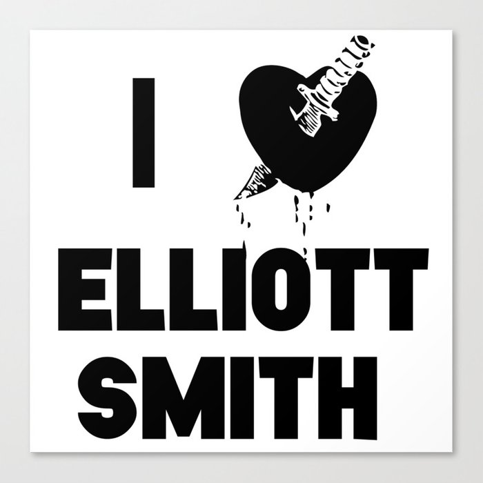I Heart Elliott Smith Canvas Print