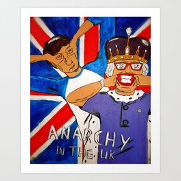 Anarchy in the UK Art Print