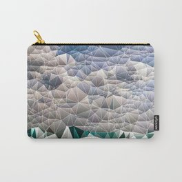 Quilted Blue Aqua Teal Abstract Design Carry-All Pouch