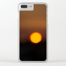 Sunset Algarve Clear iPhone Case