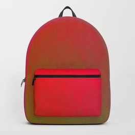 Red Gold Green Ombre Flame Backpack