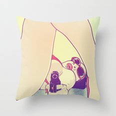 Girl With Gun 2 Throw Pillow