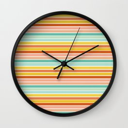 Over Striped Wall Clock