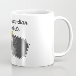 I Think My Guardian Angel Drinks Coffee Mug