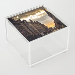 Royal Mile Sunrise in Edinburgh, Scotland Acrylic Box