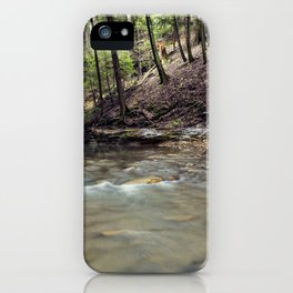 a stream in the woods iPhone Case