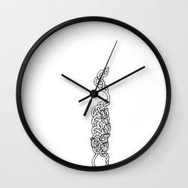 flowers in weaves Wall Clock