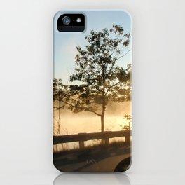 Sunrise over the lake iPhone Case