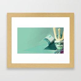 Kabuto - Green Framed Art Print