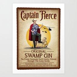 Captain Pierce Art Print