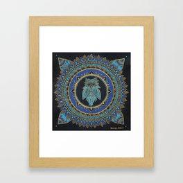 Blue Moon Owl Framed Art Print