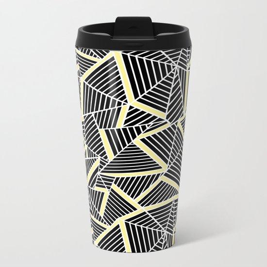 Ab Lines With Yellow Metal Travel Mug