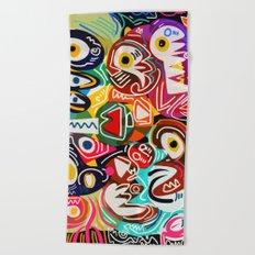 Life is beautiful street art graffiti Beach Towel