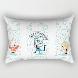 It's Raining! Rectangular Pillow