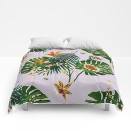 Floral Bees Light Comforters