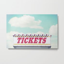 Carnival Ticket Booth Metal Print