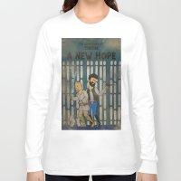 tintin Long Sleeve T-shirts featuring rare tintin comic by space boy studios