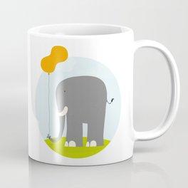 An Elephant With a Peanut Balloon Coffee Mug