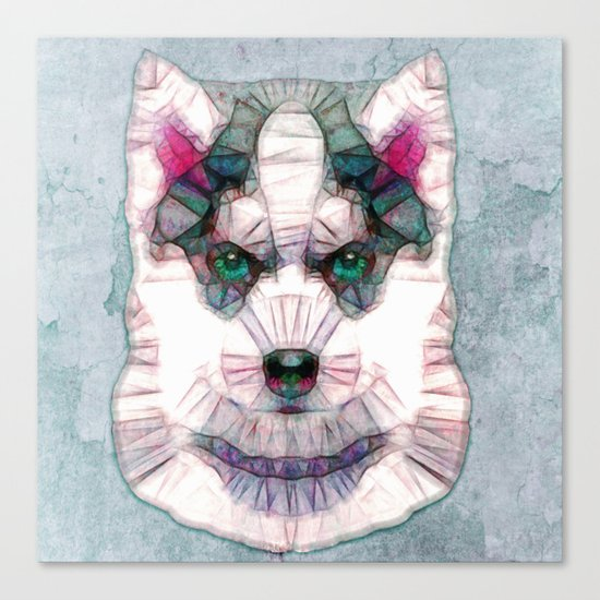 abstract husky puppy Canvas Print