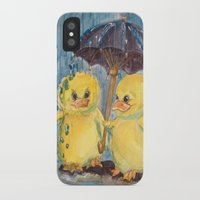 ducks iPhone & iPod Cases featuring Ducks by Corinne Fallone