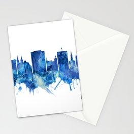 Macon Georgia Skyline Blue Stationery Cards