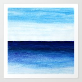Blue & blue Art Print