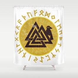Valknut   Viking Warrior Symbol Triangle Shower Curtain