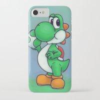 yoshi iPhone & iPod Cases featuring Yoshi by belindazart