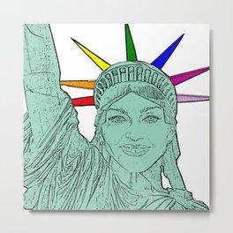 Madonna as The Statue of Liberty! Metal Print