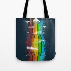 Colored Flight Tote Bag