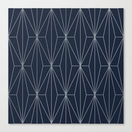 ECLIPSE BLUE GEOMETRICAL NO2 Canvas Print