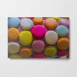 Colorful Macarons Tasty Dessert Treat Metal Print